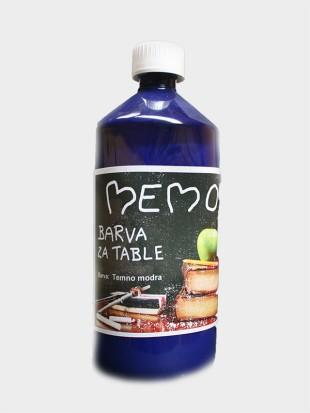 memo barva za table temno modra 1000 ml. Black Bedroom Furniture Sets. Home Design Ideas